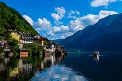 Hallstatt Austria / village. Romantic town in Stock Photography