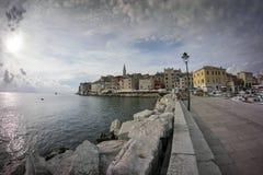 Romantic town Rovinj in Croatia Royalty Free Stock Images