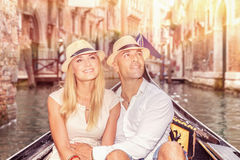 Romantic travel to Europe Stock Images