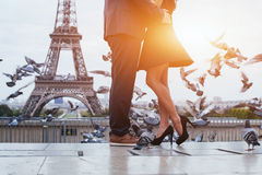 Romantic travel to Paris stock photo