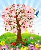 Romantic tree Royalty Free Stock Image