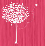 Romantic tree vector illustration