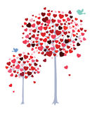Romantic trees royalty free illustration