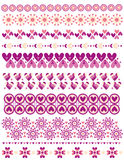 Romantic trim collection with hearts Stock Image