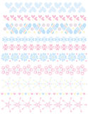 Romantic trim colletion with hearts, dots and stars Stock Images