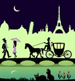 Romantic Trip. An illustration of romantic travel in nineteenth-century style Stock Photography