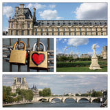 Romantic trip, Paris, France. Different views from Paris, France, illustrating romance and love Stock Photography