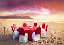 Romantic tropical dinner stock photography