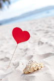 Romantic tropical scene on beach Royalty Free Stock Photos