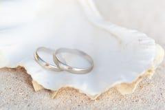 Romantic tropical scene on beach Royalty Free Stock Photos