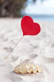 Romantic tropical scene on beach Stock Photography
