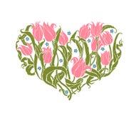 Romantic tulips Stock Image