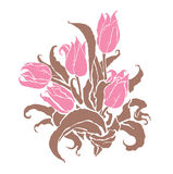 Romantic tulips Stock Photos