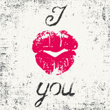 Romantic typography poster Royalty Free Stock Image