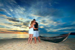Romantic uninhabited island Royalty Free Stock Images