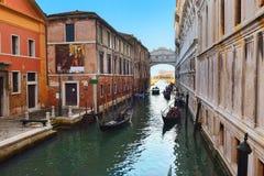 Romantic urban landscape of old Venice Stock Photo