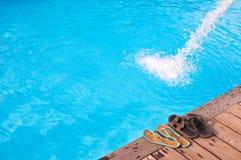 Romantic vacation near swimming pool Stock Photography