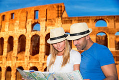Romantic vacation in Rome Stock Images
