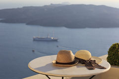 Romantic vacation in Santorini concept Royalty Free Stock Photography