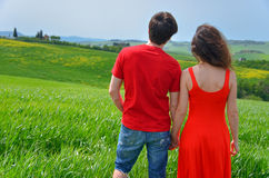 Romantic vacation in Tuscany, Italy Royalty Free Stock Images