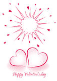 Romantic valentine background Royalty Free Stock Image