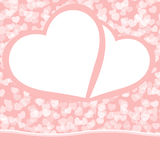 Romantic valentine background template. EPS 8 royalty free illustration