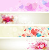 Romantic valentine banners Royalty Free Stock Photo