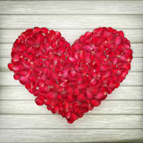 Romantic Valentine card with heart. EPS 10 Stock Photography