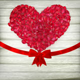 Romantic Valentine card with heart. EPS 10 Stock Image