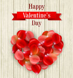 Romantic Valentine card Royalty Free Stock Photos