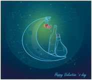 Romantic valentine card with love.  Royalty Free Stock Images