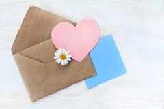 Romantic Valentine card Stock Photography