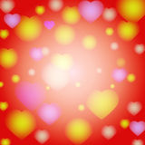 Romantic valentine day card with hearts Stock Images