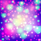 Romantic valentine day card with hearts Royalty Free Stock Photos