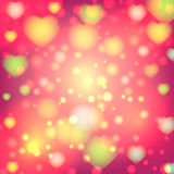 Romantic valentine day card with hearts Royalty Free Stock Images