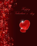 Romantic valentine day illustration. Romantic valentine day illustration with greeting Stock Photos