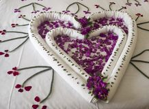 Romantic Valentine day in spa. Hotel Stock Photo
