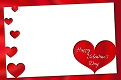 Romantic Valentine`s Day greeting in red Stock Photos