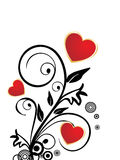 Romantic valentine hearts Stock Images