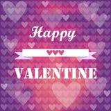 Romantic valentine hearts Royalty Free Stock Photos