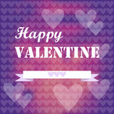 Romantic valentine hearts Royalty Free Stock Images