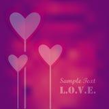 Romantic valentine hearts Royalty Free Stock Photography