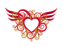 Romantic valentine illustration Stock Photography