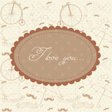Romantic Valentine invitation postcard Royalty Free Stock Photo