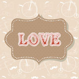 Romantic Valentine invitation postcard Royalty Free Stock Photos