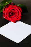 Romantic valentine message Stock Photography