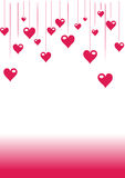 Romantic valentine pink background Royalty Free Stock Images