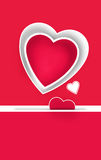 Romantic Valentine's Day card Stock Photography