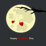 Romantic valentine`s day card with hearts Stock Images
