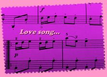 A romantic Valentine`s day card! Love song as a background! Lovely!. A romantic pink Valentine`s day card! Love song as a background! Lovely! Computer gnerated Royalty Free Stock Images